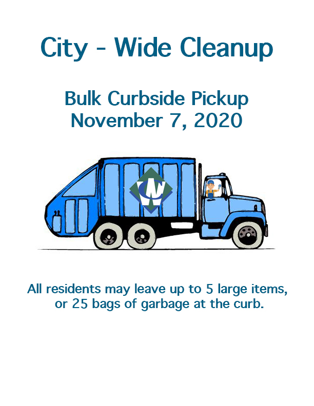 Bulk Curbside Pickup, November 7th, 2020